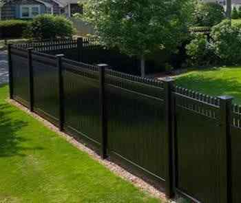 vinyl fence designs.  Fence With Vinyl Fence Designs D