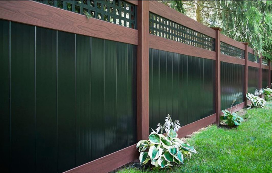 Wood Grain Vinyl Fences Nj