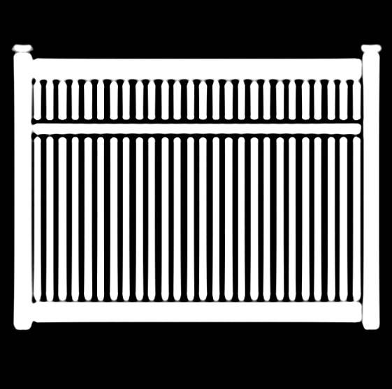 Eastern White Cedar Fencing Semi-Privacy Framed Fence
